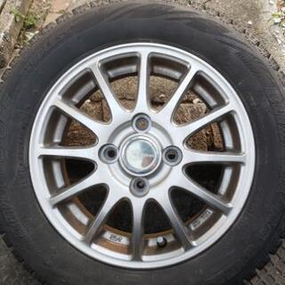 ホイール スタッドレスタイヤ 4本 ブリザック 155/65r13
