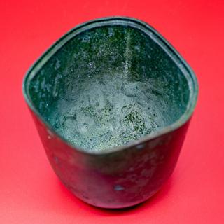 【コレクション・未使用】羽原一陽 鋳銅 挿花瓶 − 香川県