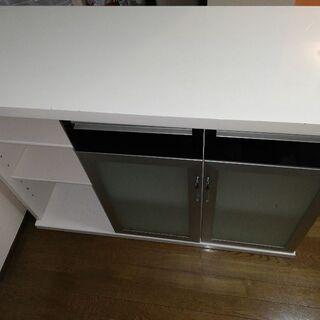 キッチンカウンターテーブル収納付き