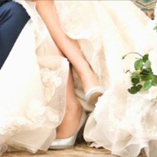 #パンプス#ブライダル#結婚式#パーティー#美品#シルバー#ラメ#格安 − 東京都