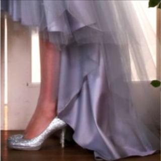 #パンプス#ブライダル#結婚式#パーティー#美品#シルバー#ラメ#格安 - 売ります・あげます