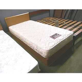 札幌 高級品 美品【シモンズ&フランスベッド シングルベッド】ビ...