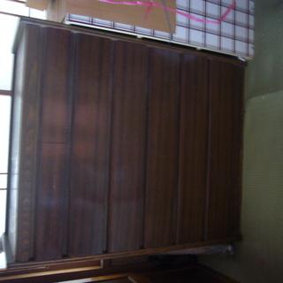 無料 タンス 昭和レトロ 昭和50年代購入 収納棚  上小2段 ...
