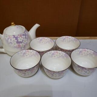 《未使用品》宇野千代 急須・お茶飲み茶碗セット