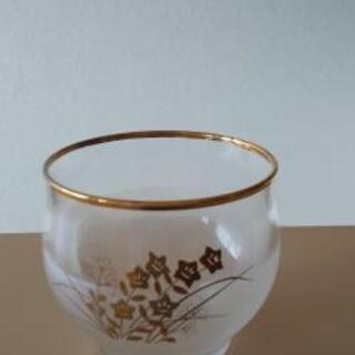 和のグラスと竹のおしぼり皿5個セット