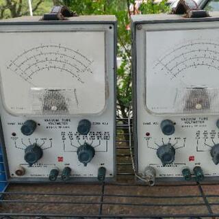 【paypayフリマ取引売約済】ナショナル真空管電圧計2台 - 都城市