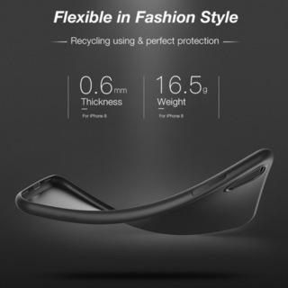 iPhone XR (6.1inch) 専用 ブラックソフトケー...