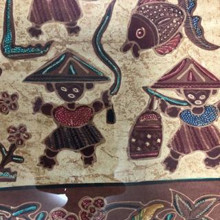 インドネシア民芸品 壁掛け