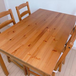 IKEA ダイニングテーブル 椅子4脚