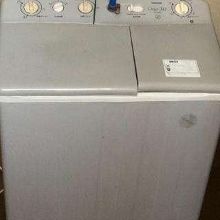 二槽式洗濯機あげます。