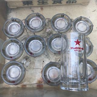サッポロ ビールグラス 12個 中古品