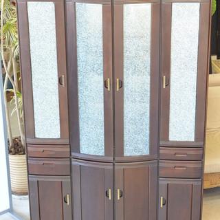 高級感のある食器棚 高さ調整可 アンティーク レトロ キリア食器...