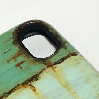 ミントカフェトランクiPhone6/6s/7/8対応ケースサビ塗装 - 携帯電話/スマホ