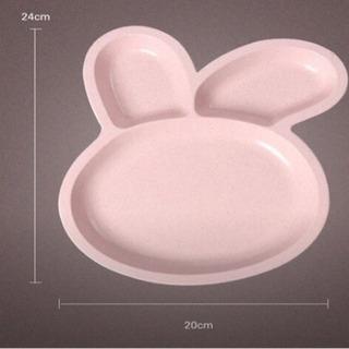 新品 プレート 食器 皿 ベビー 離乳食 おやつ うさぎ ピンク