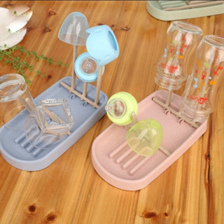 新品 哺乳瓶立て 哺乳瓶ケース 離乳食食器乾燥 折りたたみ ピンク