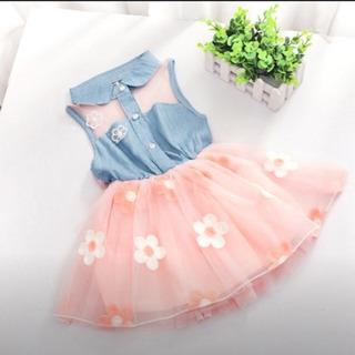新品 ワンピース ドレス チュール 花柄 ベビー