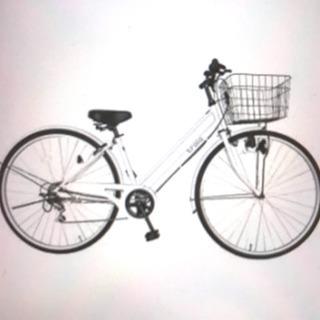 【ジャンク】自転車 白 充分乗れます!!