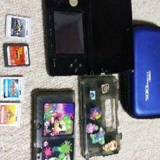 3DS本体とソフト4本付