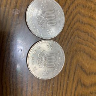 記念硬貨 札幌オリンピック100円硬貨2枚