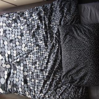 無印良品の高密度ポケットコイルマットレス・シングル・毛布・枕・シ...