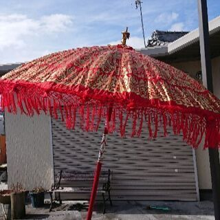 ☆値下げ☆バリ傘 レッド