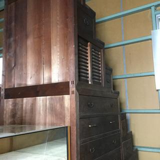 階段箪笥  大型  アンティーク家具  時代箪笥  幅91…