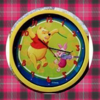 🐻Disneyプーの大きな掛時計(展示品取説保証書付)🐻