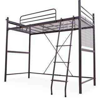 はしご付きロフトベッド パイプベッド 宮付き コンセント付き