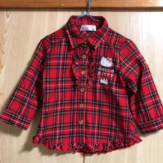 キティちゃん★チェックシャツ