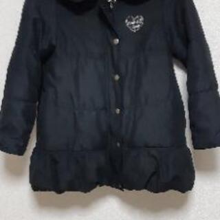 女の子 ダウンコート size140 黒色