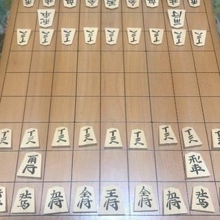 将棋盤 1枚板木製脚付き 将棋駒