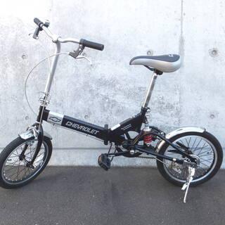 値下げ!!GM CHEVROLET 16インチ 折り畳み自転車 ...