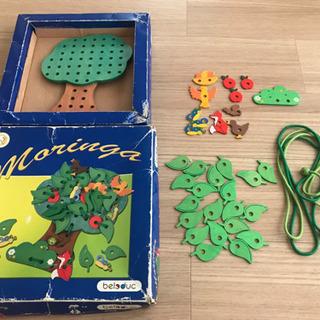 ボーネルンド購入  紐通し  知育玩具  木のおもちゃ