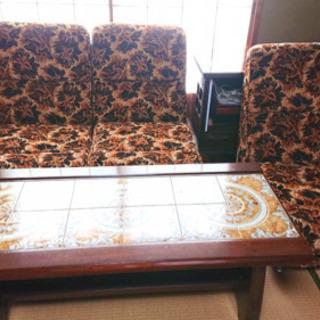 【値下げ】応接セット(テーブル ソファー)【ソファーのみ購入も可能】