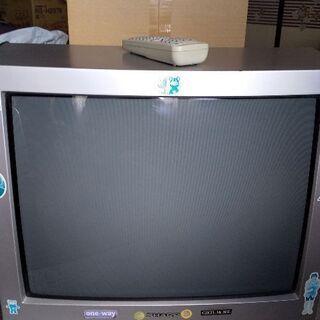 ジャンク品  旧型 ビデオ再生付きテレビ