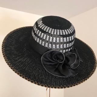 麦わら帽子/ブラック