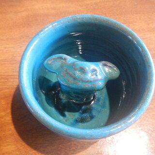 教訓茶碗 石垣島土産 米子焼 シーサー