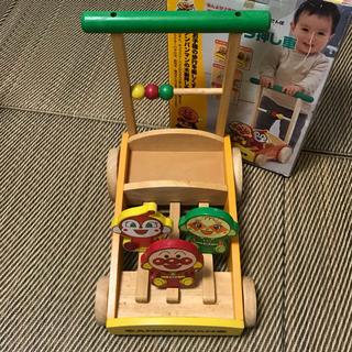 値下げ♡ アンパンマン ピノチオ 組立式 カタカタ押し車 木製 ...