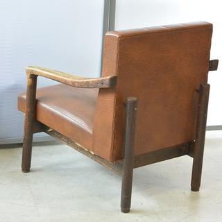 おすすめ♪雰囲気のある椅子 脚の形が良い感じ 木製 チェア レトロ 古民家 アンティーク 高70cm×横62cm×奥70cm /A - 高松市