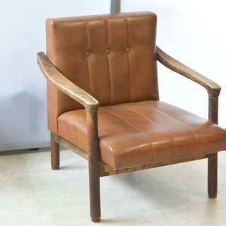 おすすめ♪雰囲気のある椅子 脚の形が良い感じ 木製 チェア レトロ 古民家 アンティーク 高70cm×横62cm×奥70cm /Aの画像