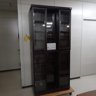 ガラス扉付スライド本棚(R109-22)