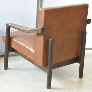 おすすめ♪雰囲気のある椅子 脚の形が良い感じ 木製 チェア レトロ 古民家 アンティーク 高70cm×横62cm×奥70cm /B - 高松市