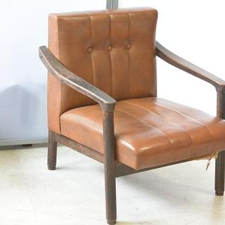 おすすめ♪雰囲気のある椅子 脚の形が良い感じ 木製 チェア レトロ 古民家 アンティーク 高70cm×横62cm×奥70cm /Bの画像