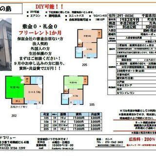 【審査通過実績99%】DIY可能!共益費込み2万円AP!