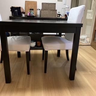 IKEA ダイニングテーブルセット(伸縮)椅子2脚