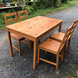 超お得!ダイニングテーブル、椅子セット! - 家具