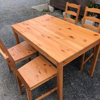 超お得!ダイニングテーブル、椅子セット! − 栃木県