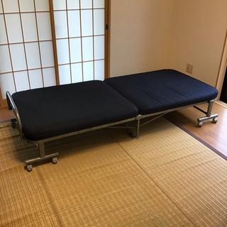シングルベッド 折りたたみ式 電動リクライニング付き