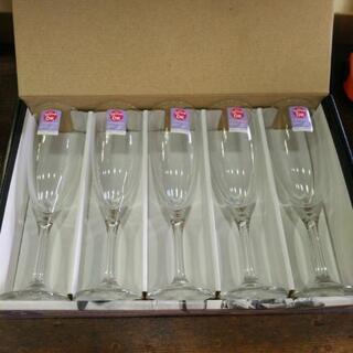 新品 シャンパングラス ワイングラス 5セット