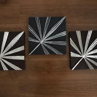 アジアン雑貨 バリ 木製レリーフ 壁掛け 3枚セット